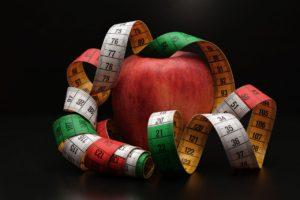 apple, tape measure, remove